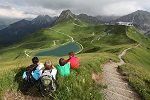 Rast mit Blick auf den Riezler Alpsee