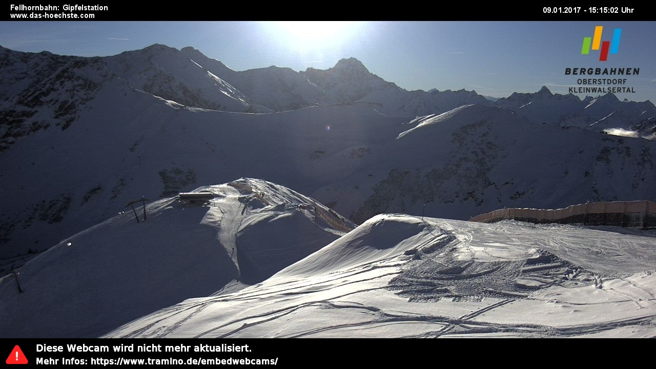 Webcam Fellhorn-Gipfelstation