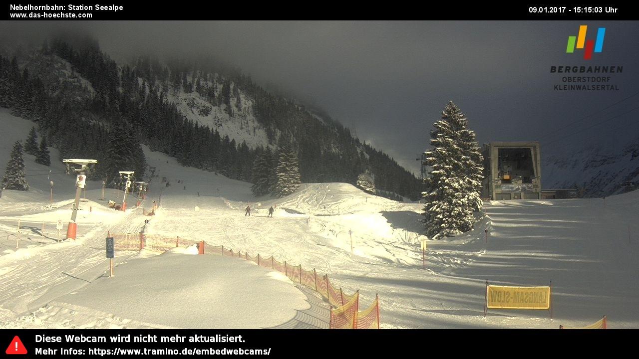 Webcam Nebelhorn: Seealpe
