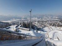 Anlauf HS 106 mit Blick auf Oberstdorf