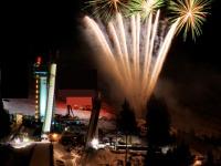 Feuerwerk in der Erdinger Arena