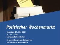 Plakat Politischer Wochenmarkt in Sonthofen