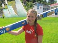 Anna Berktold auf ihrer Heimschanze