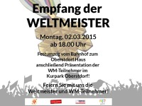 WM Empfang 2015