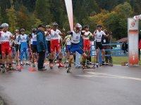 Start Wettkampf Skiroller