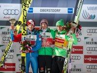 Severin Freund gewinnt vor Michael Hayböck und Peter Prevc