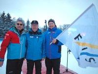Übergabe der offiziellen FIS Fahne von Kulm an Oberstdorf