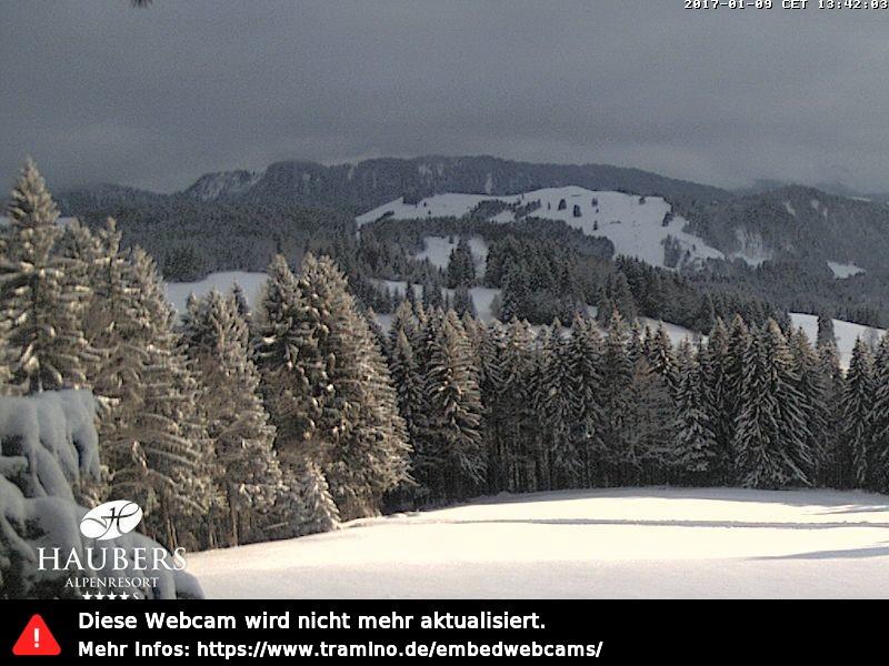 Webcam Skigebiet Oberstaufen - Hündle cam 6 - Allgäu