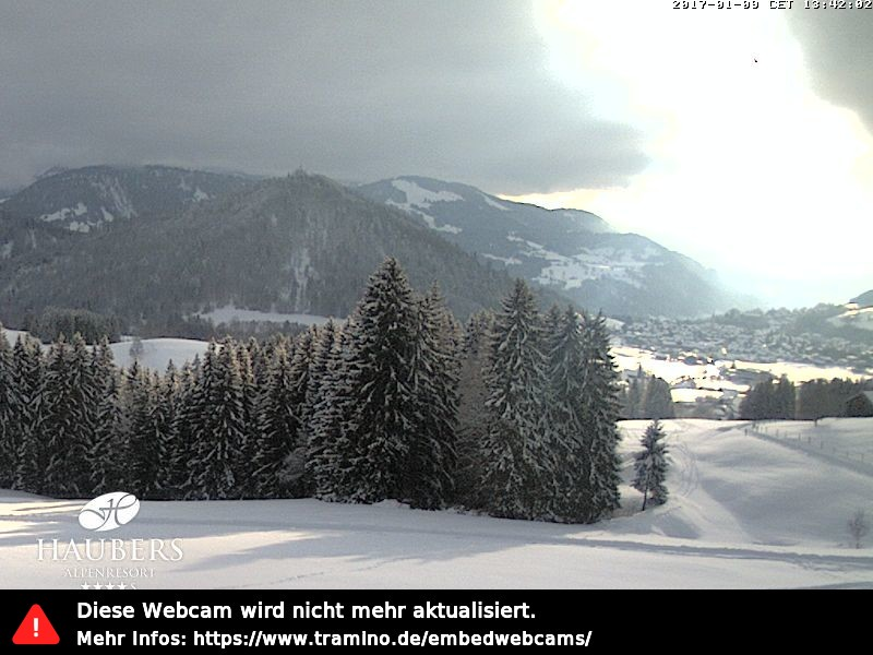 Webcam Skigebiet Oberstaufen - Hochgrat Allgäu