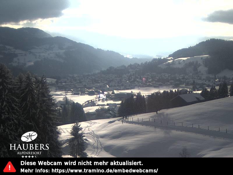 Webcam Skigebiet Oberstaufen - Hündle cam 4 - Allgäu
