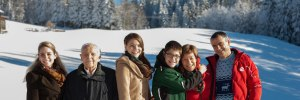 Familie Hauber im Winter
