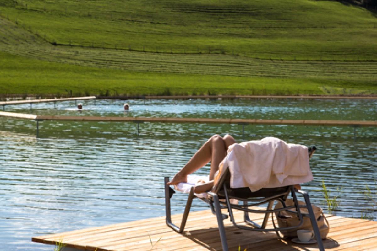 der totale Badegenuss am neuen und großen Natursee