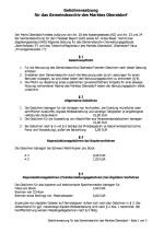 Gebührensatzung Gemeindearchiv