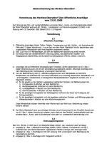 Verordnung über öffentliche Anschläge (2009)