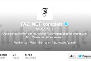 FAZ Twitter