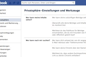 Privateinstellungen Facebook