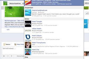 Facebook Suchergebnis