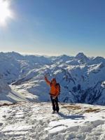 Skitour auf dem Heilbronner Weg