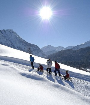 Winter hiking paradise Oberstdorf