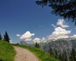 Wanderweg Fellhorn, Blick auf Höfats