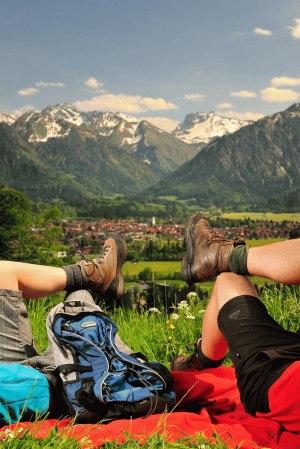 Pause über Oberstdorf