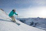 Skifahren mit Ausblick