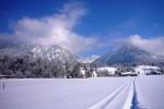 Langlaufspur im Schnee