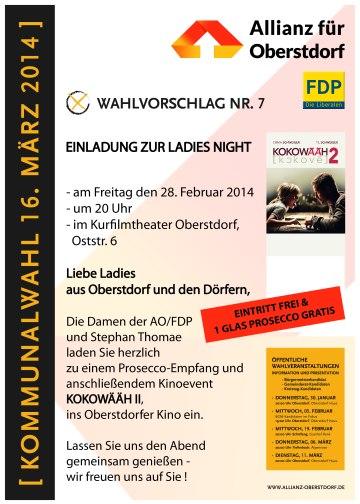 Einladung Ladies-Night