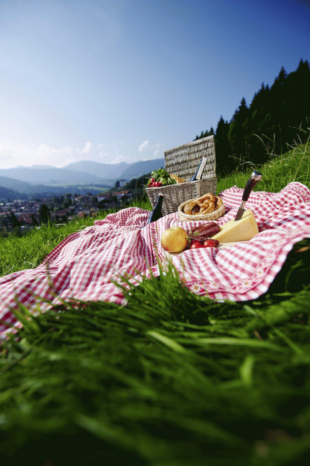 ein picknick mit panorama rundet die perfekte wanderung ab oberstaufen tourismus. Black Bedroom Furniture Sets. Home Design Ideas