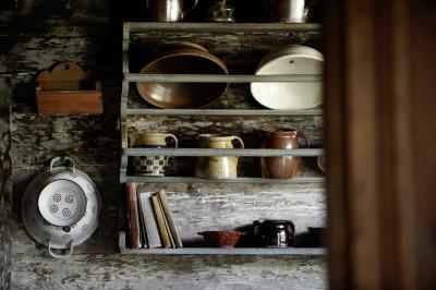 Altertümliches Geschirr im Heimatmuseum