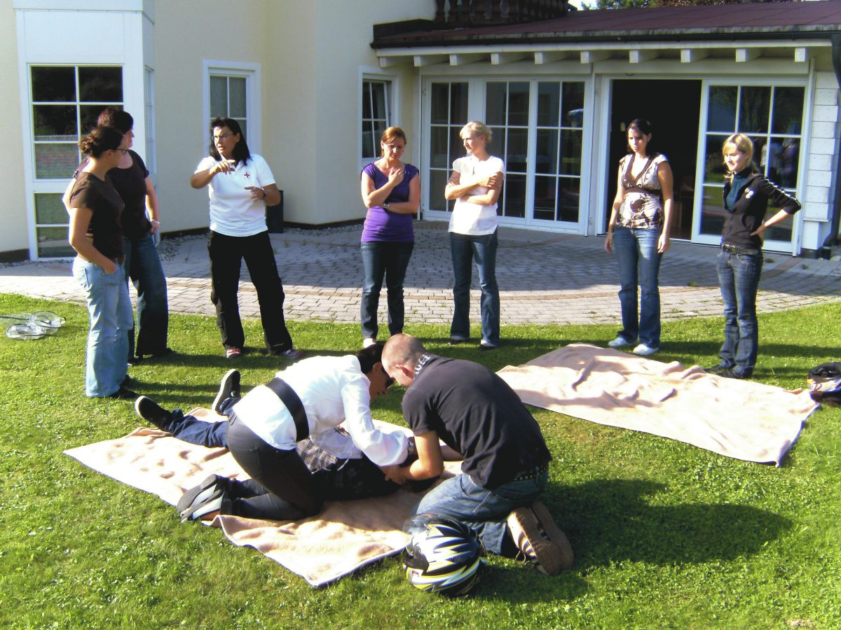 Erste-Hilfe-Kurs im Parkhotel Frank