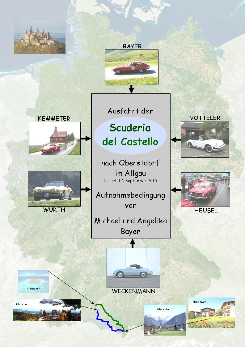 Ausfahrt der Scuderia 2010 nach Oberstdorf