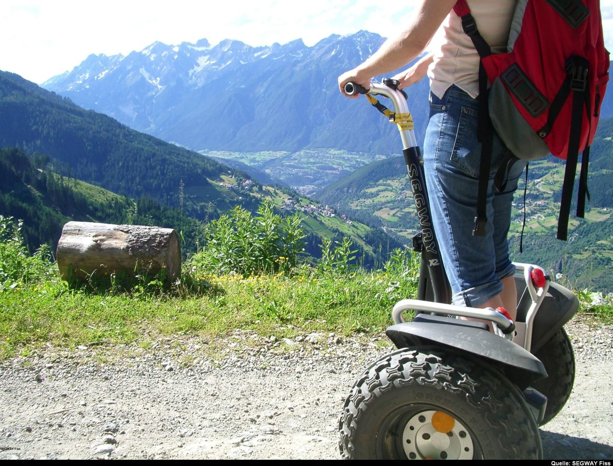 Ein gelndegngiges Segway ist ideal fr unsere Bergregion