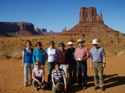 Gruppe am Monument Valley