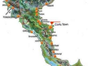 Karte Korfu