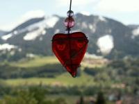 Bergblick mit Herz