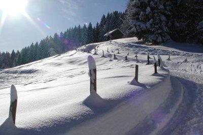 Winterwanderweg um den Kapf