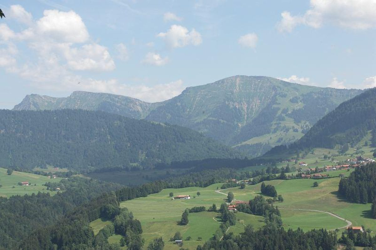 Panoramablick nach Steibis und zum Hochgrat