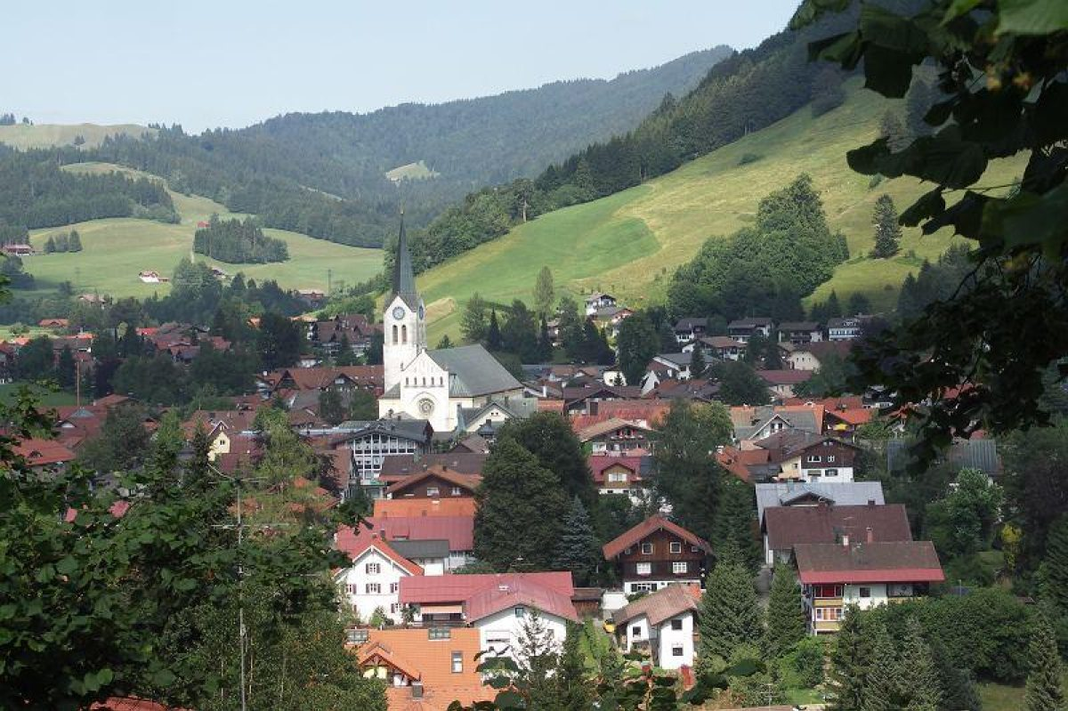 Ortsblick Oberstaufen