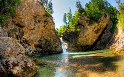Die Buchenegger Wasserfälle im Naturpark Nagelfluhkette