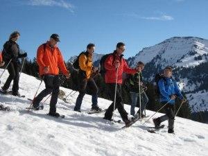 Mit Schneeschuhen am Imberg