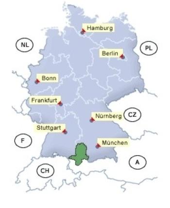Anreisespinne Deutschland