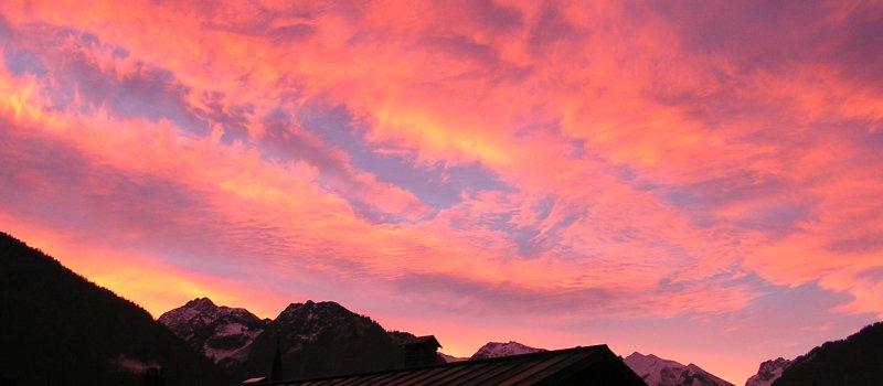 Besondere Morgenstimmung über Oberstdorf