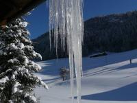 Winterstimmung vor unserem Haus