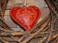 Impressionen-Herz rot