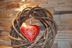 Impressionen-Kranz rotes Herz