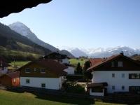 Aussicht Doppelzimmer/Ferienwohnung Rubihorn
