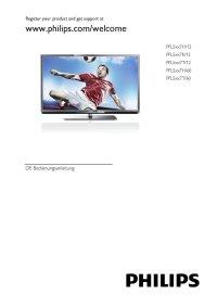 Fernseher PHILIPS 40PFL5507K12 Benutzerhandbuch