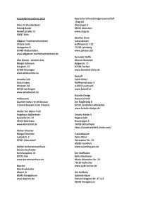 AUSSTELLERVERZEICHNIS Stand 16.02.19