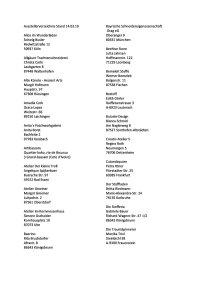 Ausstellerverzeichnis Stand 14.03.19